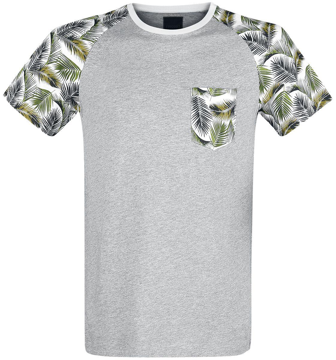 Marki - Koszulki - T-Shirt Produkt Palm Raglan Tee T-Shirt jasnoszary - 365802