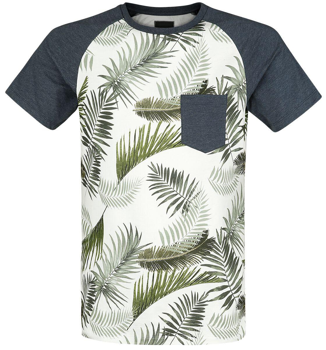 Marki - Koszulki - T-Shirt Produkt Palm Raglan Tee T-Shirt granatowy - 365803