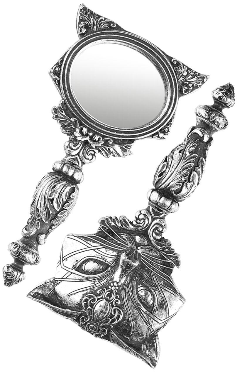 Image of   Alchemy Gothic Sacred Cat Håndspejl sølvfarvet