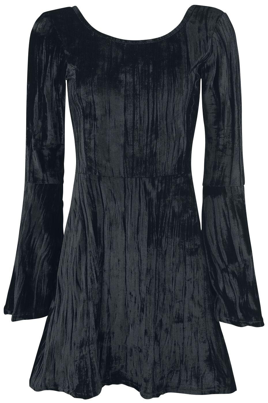 Image of   Outer Vision Noci Black Velvet Kjole sort
