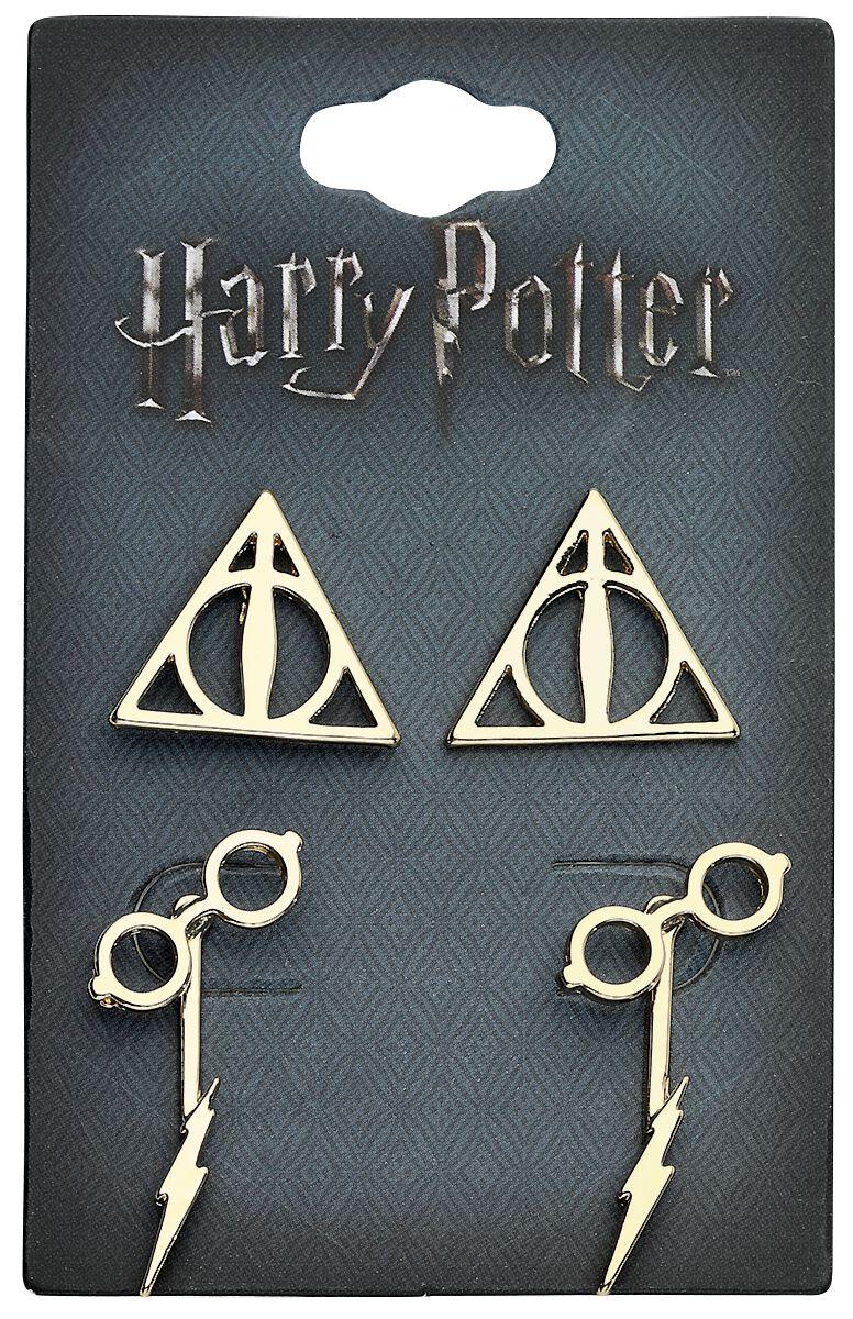 Marki - Kolczyki - Kolczyki - Earpin Harry Potter Symbole Kolczyki - Earpin złoty - 365864