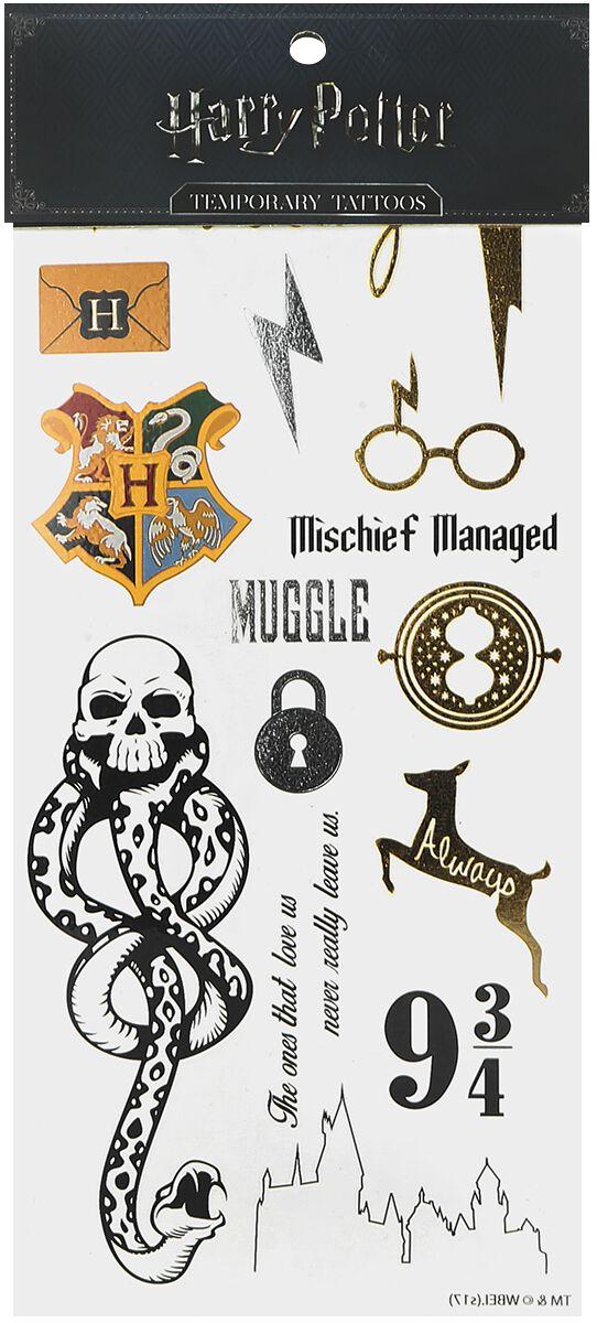 Marki - Kosmetyki - Sztuczny tatuaż Harry Potter Symbole Sztuczny tatuaż wielokolorowy - 365870