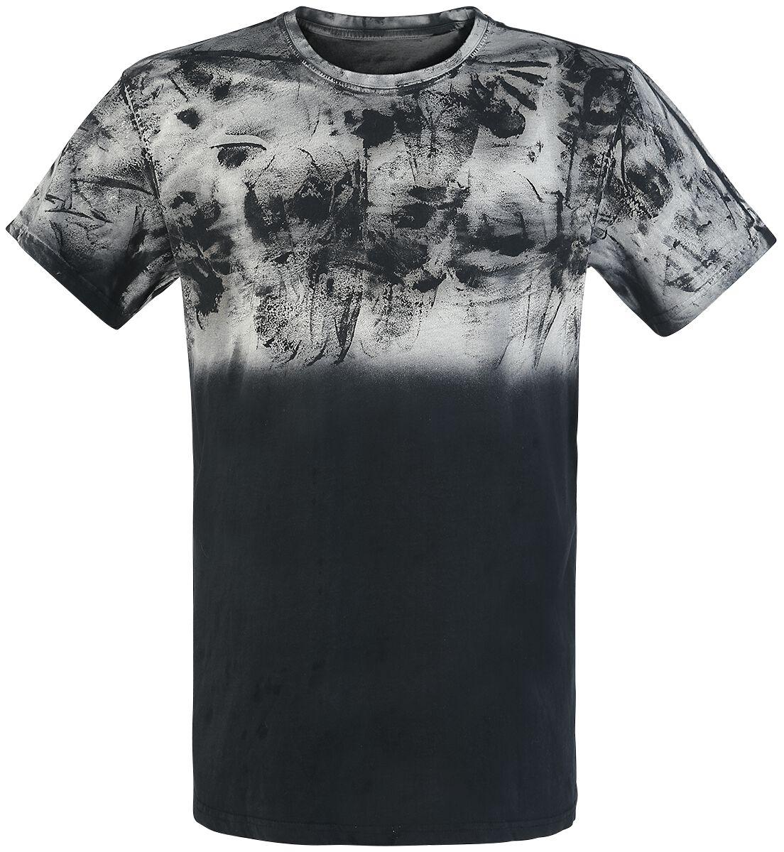 Image of   Outer Vision Spatolato Up Shirt T-Shirt sort-grå