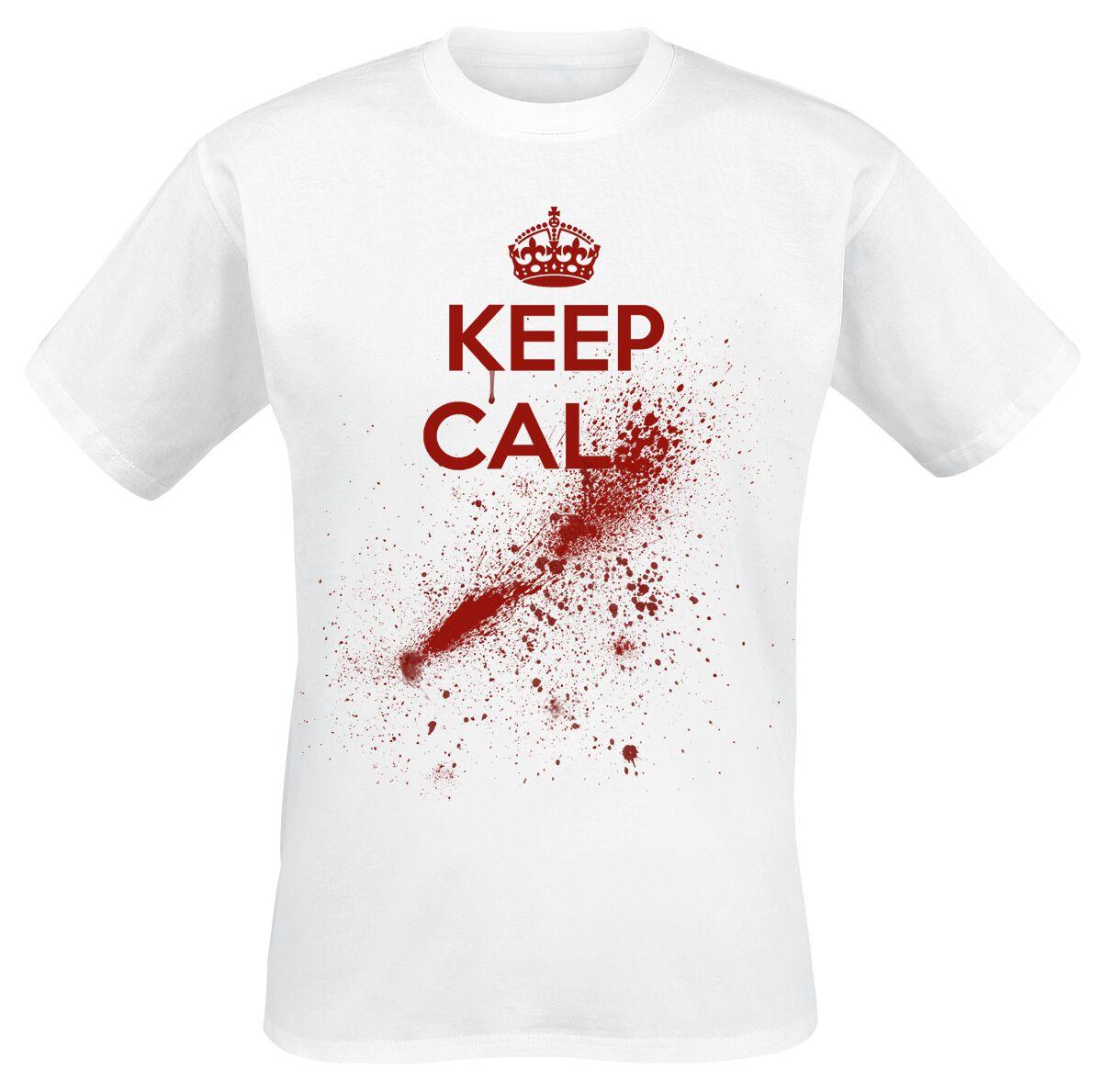 Fun Shirts - Koszulki - T-Shirt Bloody Keep Calm T-Shirt biały - 365896
