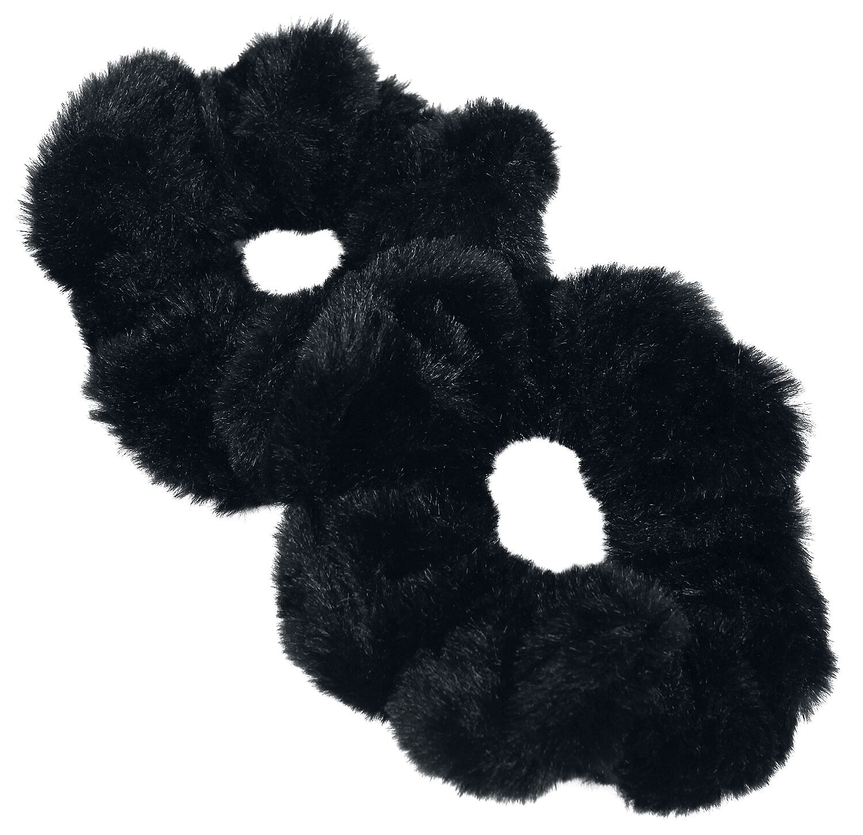 Basics - Ozdoby do włosów - Gumka do włosów Blackheart Black Furry Gumka do włosów czarny - 365912