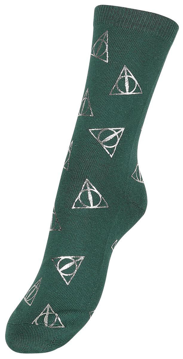 Socken für Frauen - Harry Potter Heiligtümer des Todes Socken dunkelgrün  - Onlineshop EMP