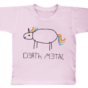 Death Metal Unicorn T-shirt Enfant rose clair