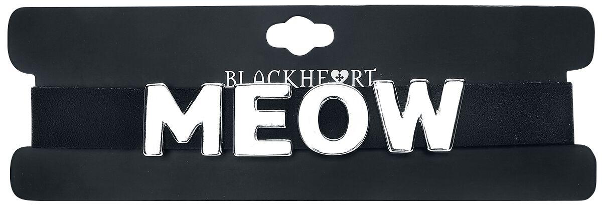 Image of   Blackheart Meow Halsbånd sort-sølv