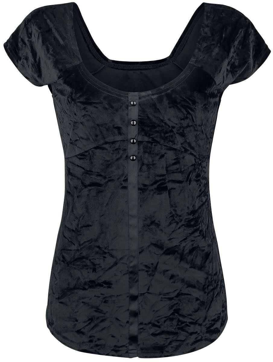 Image of   Fashion Victim Samt T-Shirt Girlie trøje sort