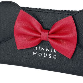 Mickey & Minnie Mouse Loungefly - Oreilles Et Nœuds Portefeuille rouge/noir