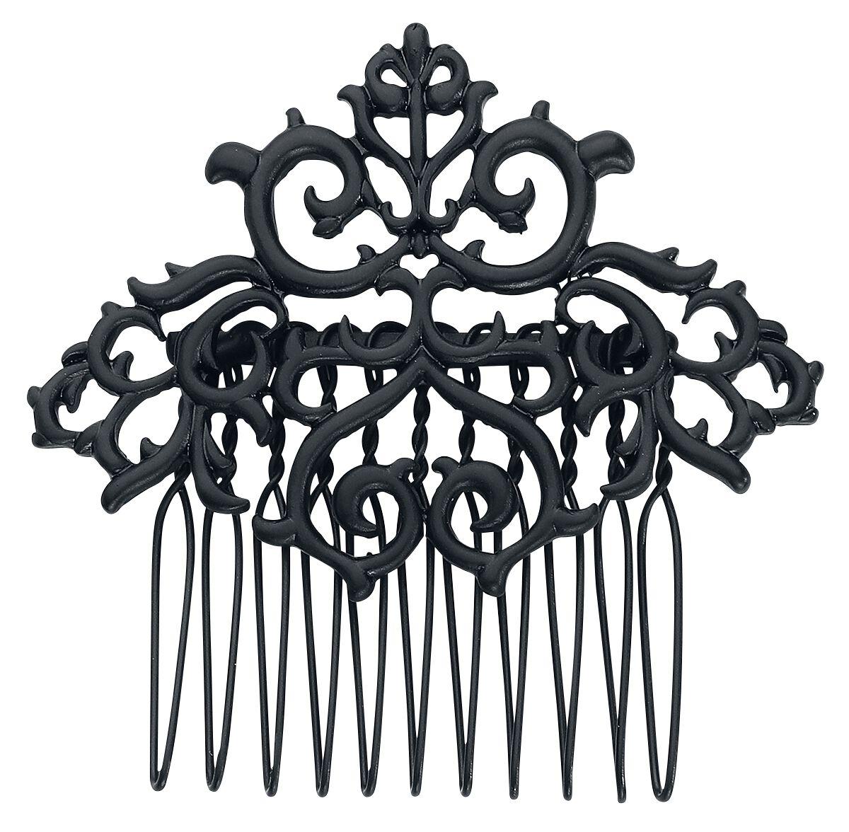 Image of   Blackheart Black Filigree hårbørste Hårspænde sort