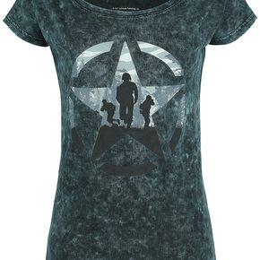 Call Of Duty WWII T-shirt Femme vert/noir