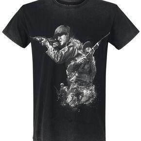 Call Of Duty WWII T-shirt gris foncé