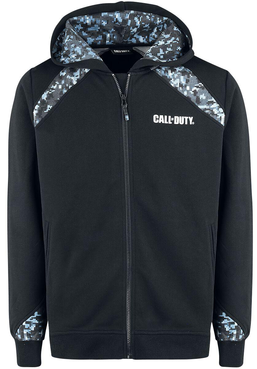 Merch dla Fanów - Bluzy z kapturem - Bluza z kapturem rozpinana Call Of Duty Skull Bluza z kapturem rozpinana czarny - 366042