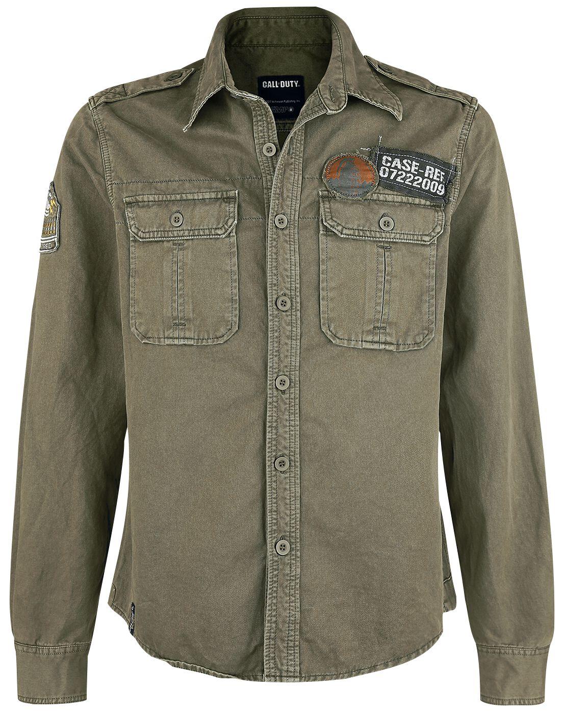 Merch dla Fanów - Koszule z długim rękawem - Koszula Call Of Duty WWII Koszula oliwkowy - 366049