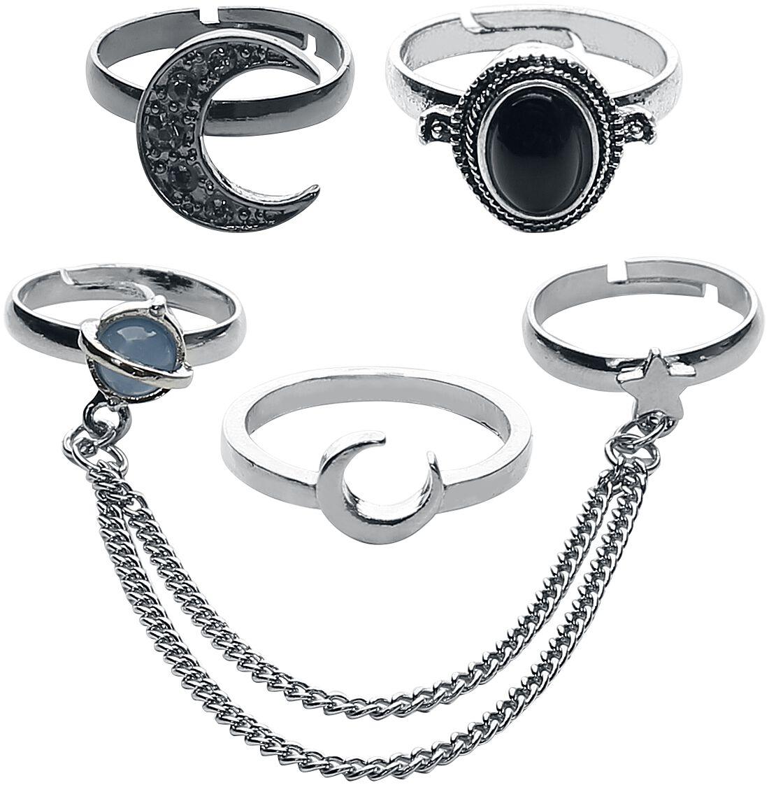 Image of   Blackheart Celestial Ring Set Ring sølvfarvet