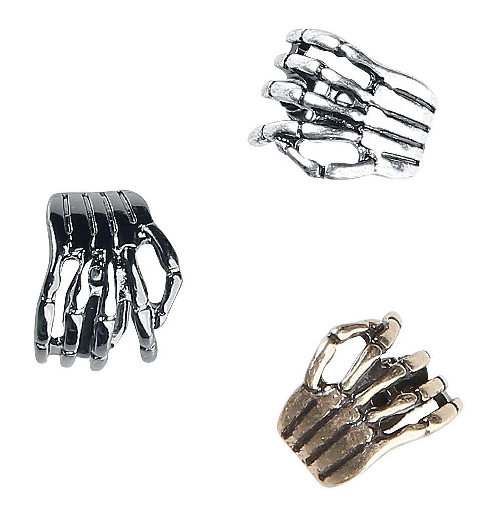 Image of   Blackheart Skeleton Hands Øreclip multifarvet
