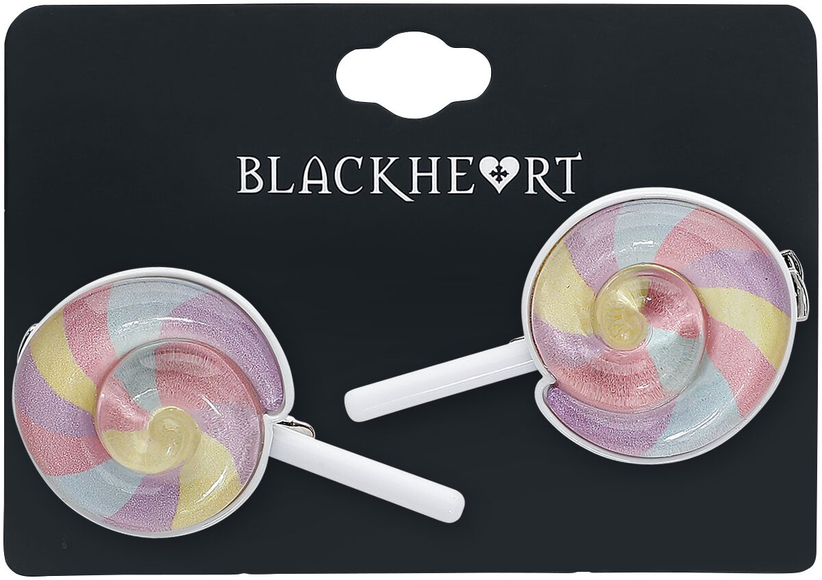Image of   Blackheart Lollipop Hårspænde multifarvet