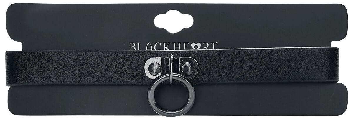 Image of   Blackheart O-Ring Choker Halsbånd sort