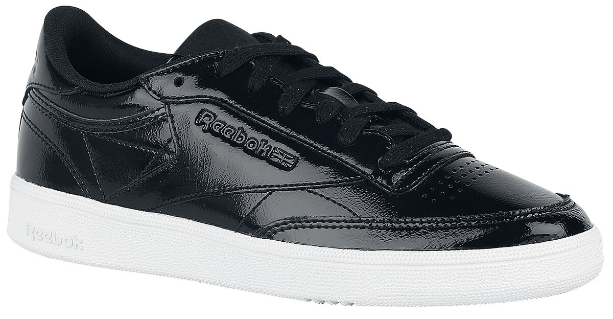 Image of   Reebok Club C 85 Patent Sneakers sort-hvid