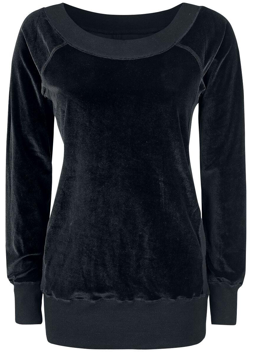 Image of   Forplay Velvet Sweater Girlie sweatshirt sort