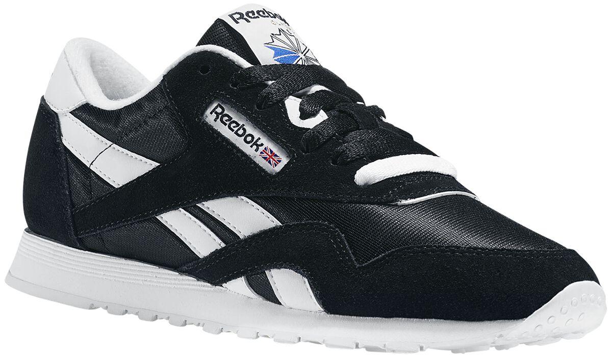 Image of   Reebok CL Nylon Sneakers sort-hvid