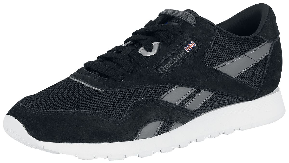 Image of   Reebok CL Nylon OM Sneakers sort-grå-hvid