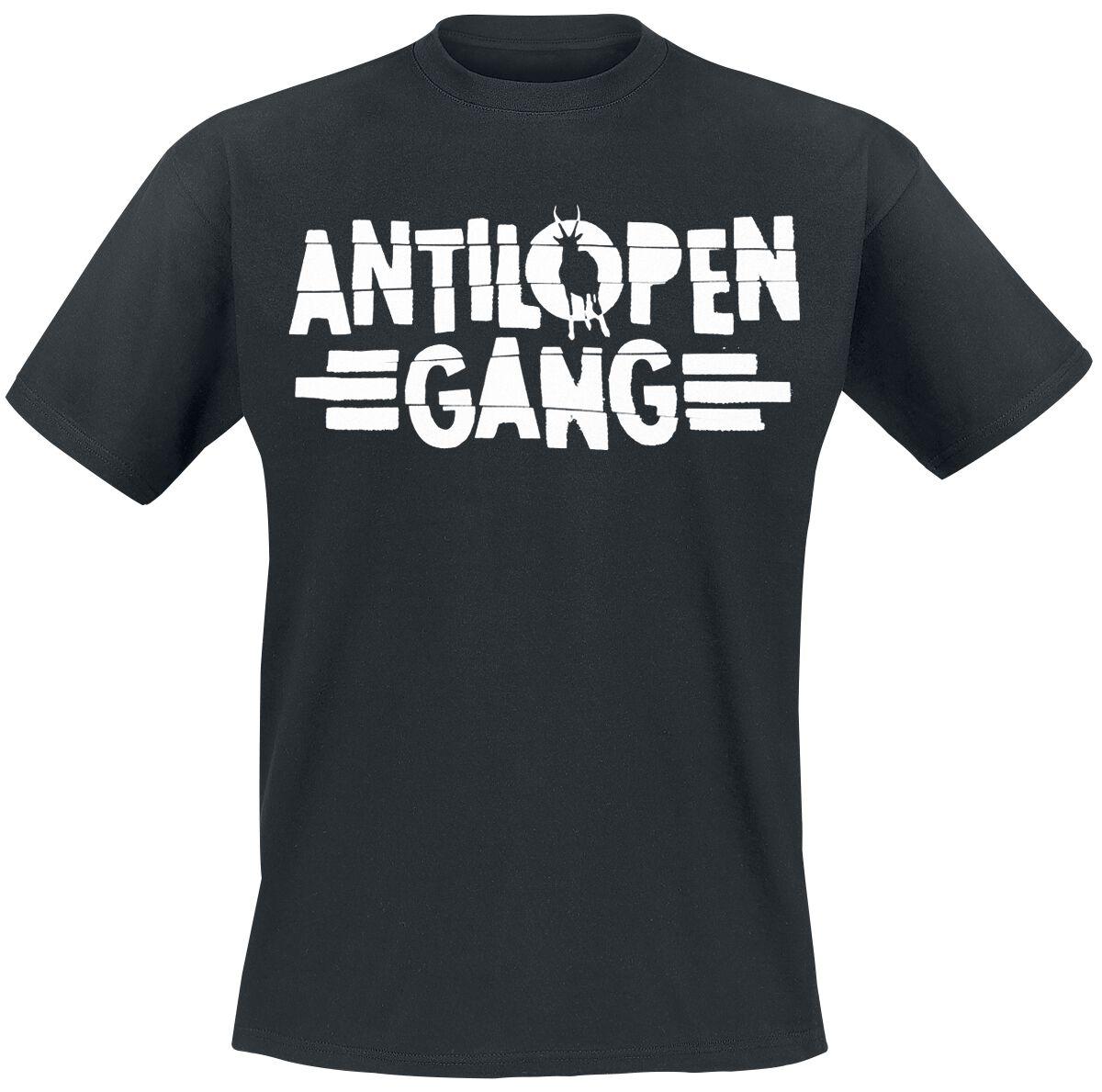 Zespoły - Koszulki - T-Shirt Antilopen Gang Logo T-Shirt czarny - 366127