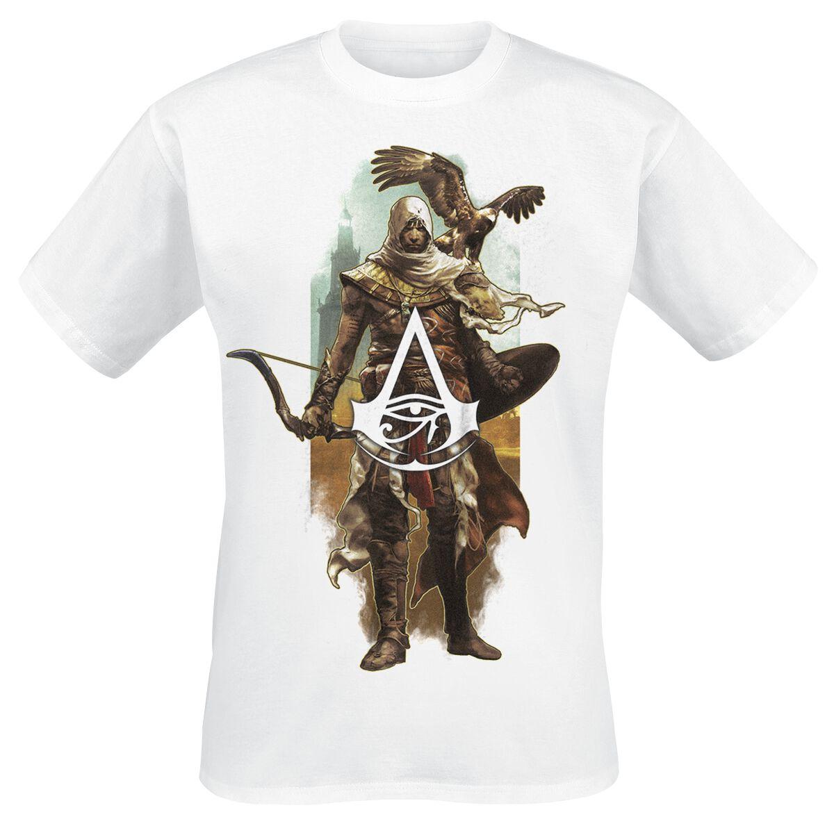 Image of   Assassin's Creed Origins - Bayek & Eagle T-Shirt hvid