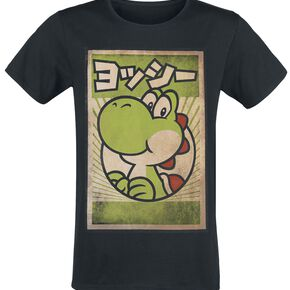 Super Mario Propaganda Yoshi T-shirt noir
