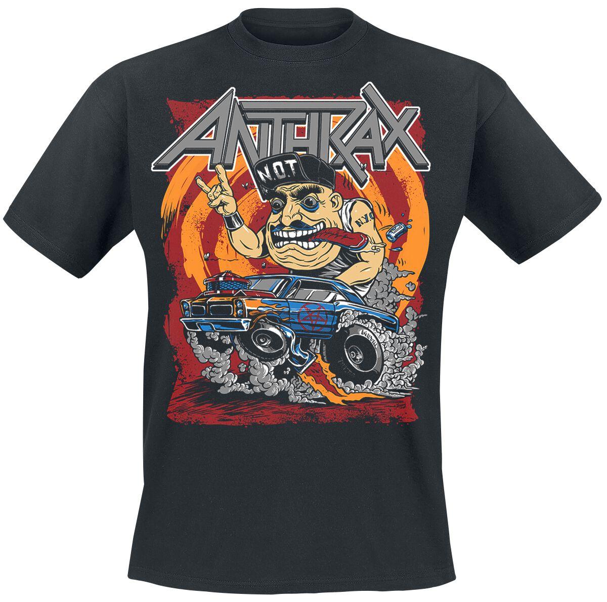 Zespoły - Koszulki - T-Shirt Anthrax Not Fink T-Shirt czarny - 366337