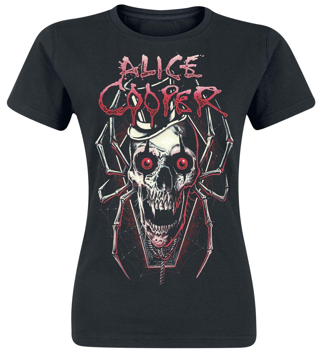 Zespoły - Koszulki - Koszulka damska Alice Cooper Skull Spider Koszulka damska czarny - 366339