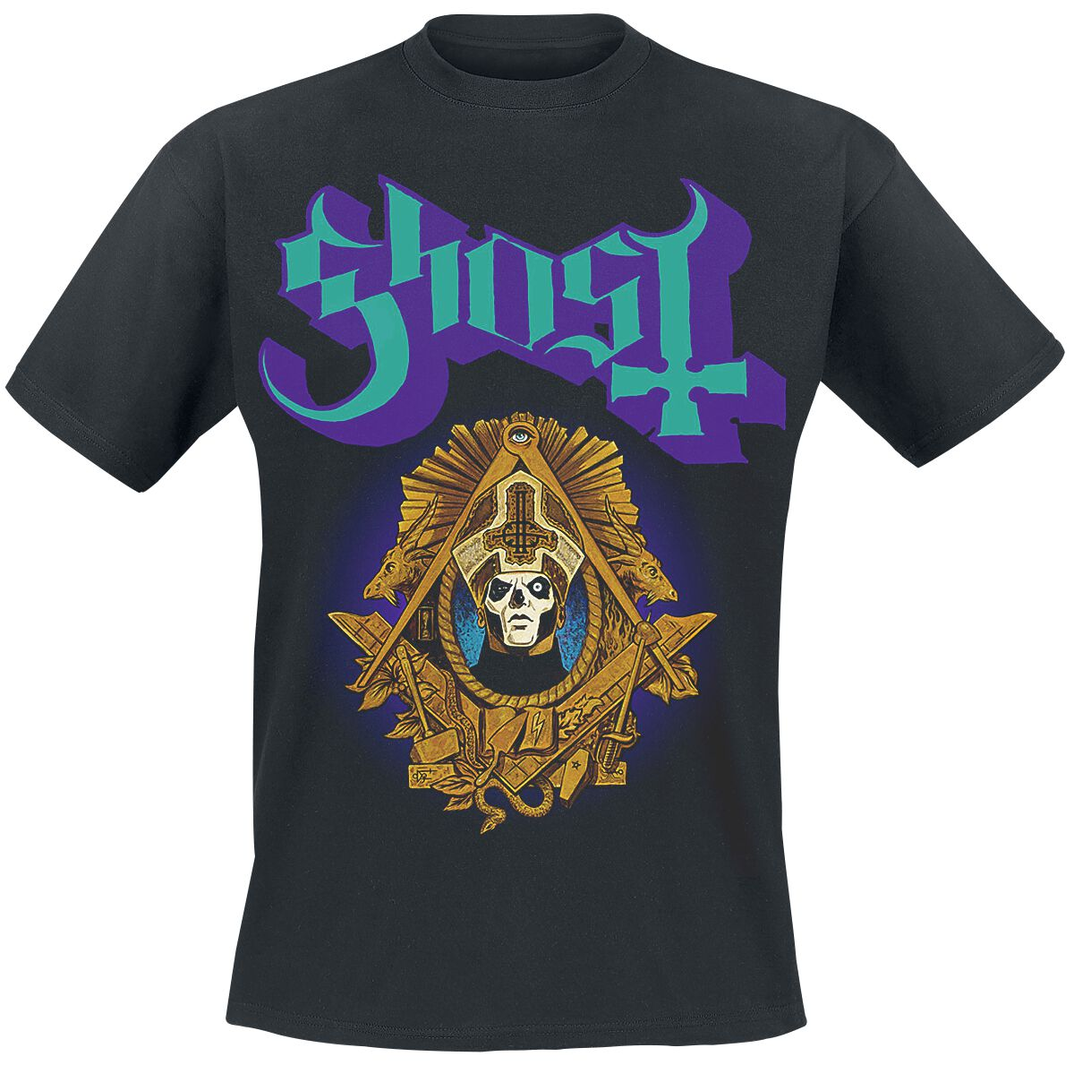 Zespoły - Koszulki - T-Shirt Ghost Swear Right Now T-Shirt czarny - 366344