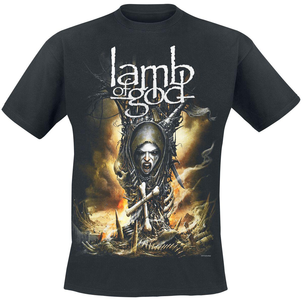 Zespoły - Koszulki - T-Shirt Lamb Of God Spirit Warrior T-Shirt czarny - 366354