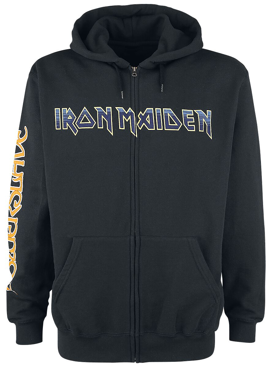 Image of   Iron Maiden Dark Ink Powerslave Hættejakke sort