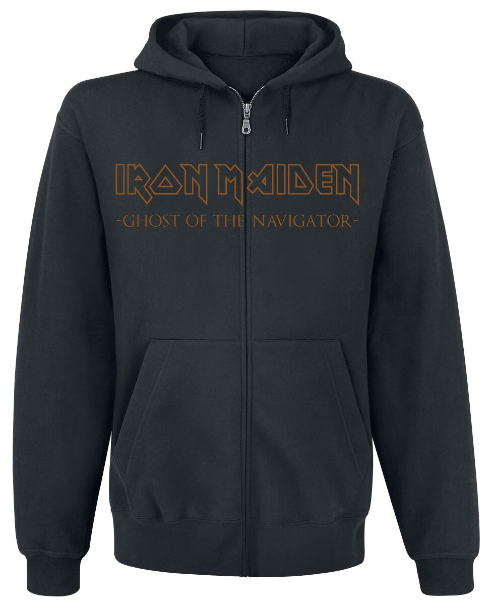 Image of   Iron Maiden Ghost Of The Navigator Hættejakke sort