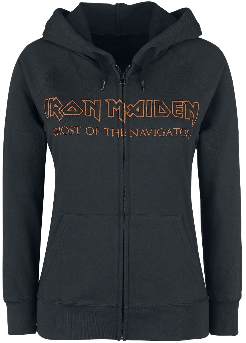 Image of   Iron Maiden Ghost Of The Navigator Girlie hættejakke sort