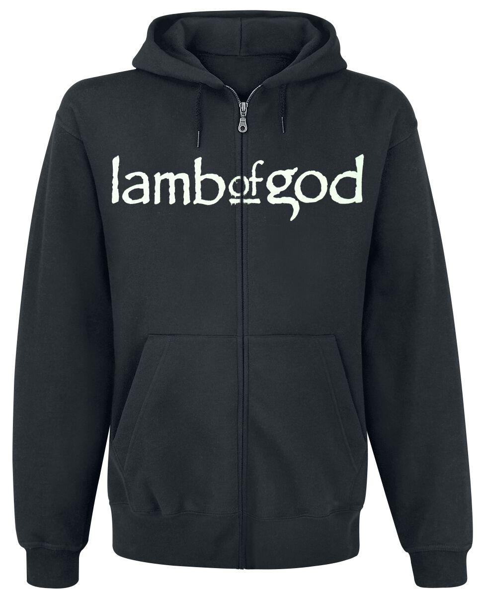 Zespoły - Bluzy z kapturem - Bluza z kapturem rozpinana Lamb Of God Dark Phoenix Bluza z kapturem rozpinana czarny - 366407