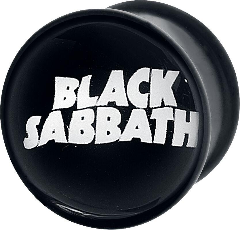 Image of   Black Sabbath Logo Plugs sort-hvid