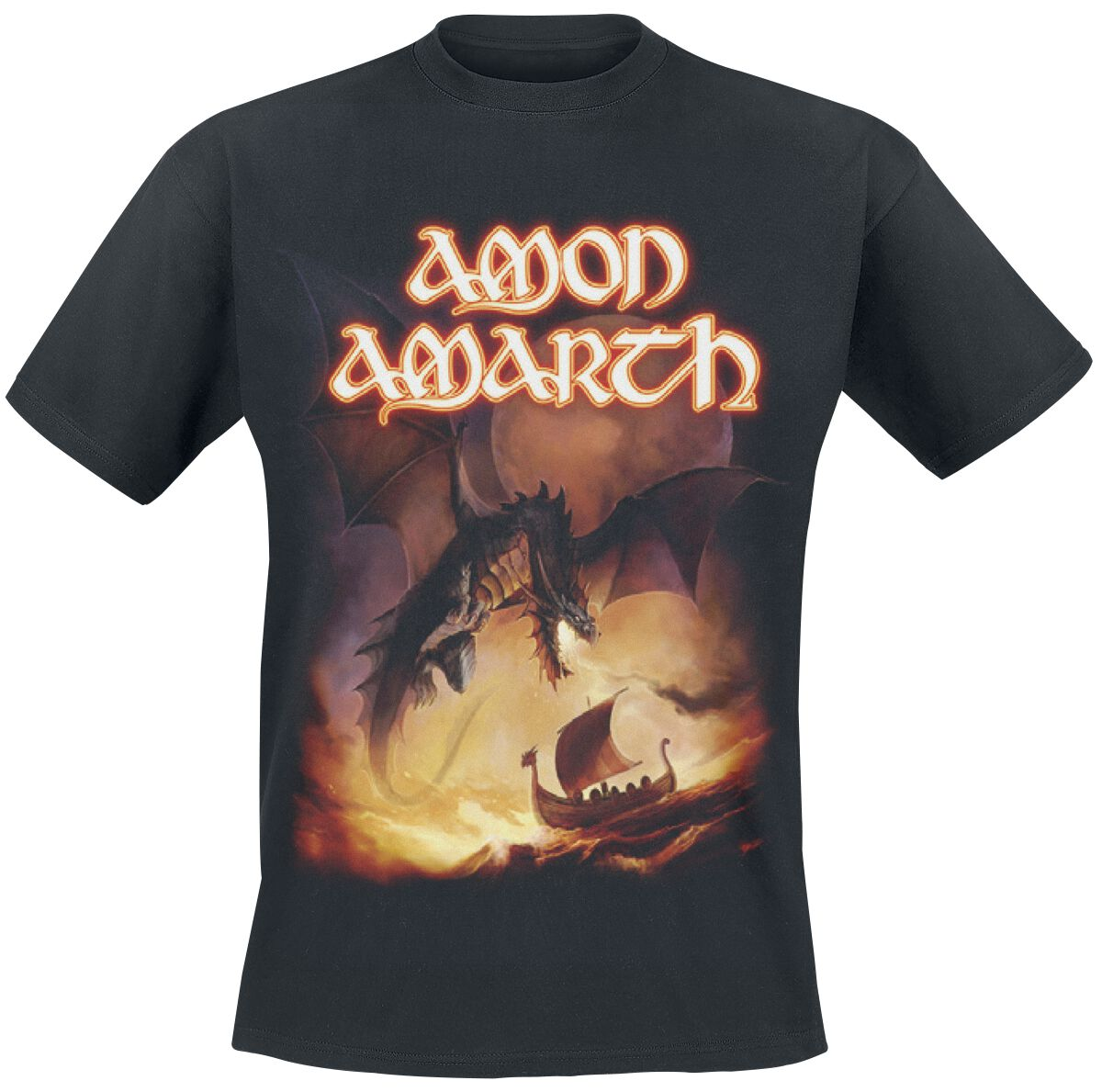 Image of   Amon Amarth On A Sea Of Blood T-Shirt sort