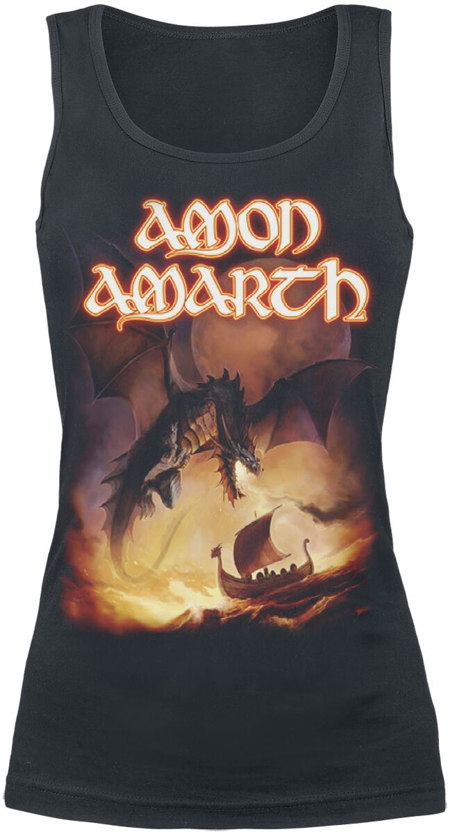 Image of   Amon Amarth On A Sea Of Blood Girlie top sort