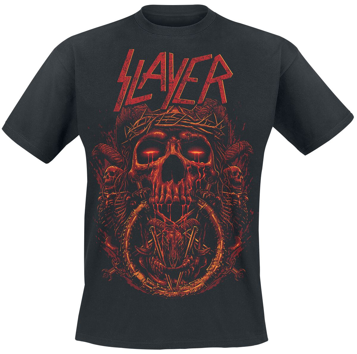 Image of   Slayer Crown Of Thorns T-Shirt sort