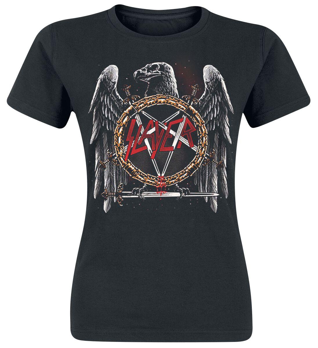 Image of   Slayer Eagle Skull Girlie trøje sort
