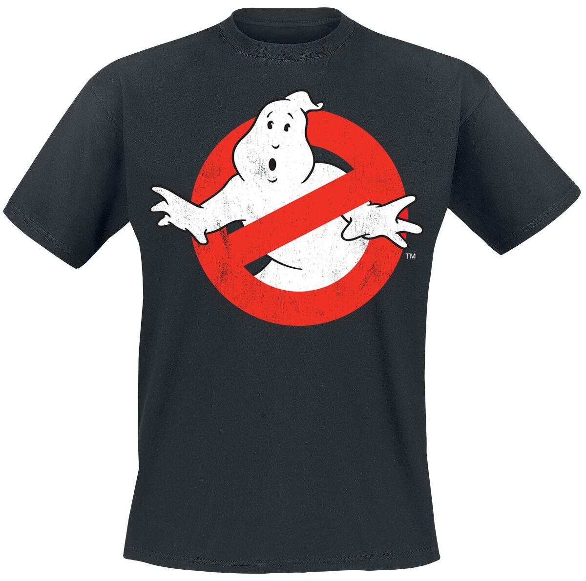 Merch dla Fanów - Koszulki - T-Shirt Ghostbusters Distressed Logo T-Shirt czarny - 366531