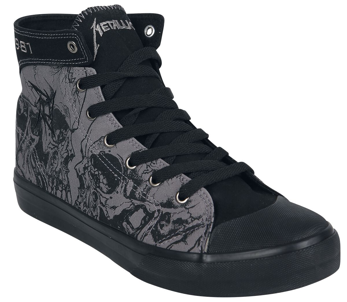 Image of   Metallica EMP Signature Collection Sneakers grå-sort