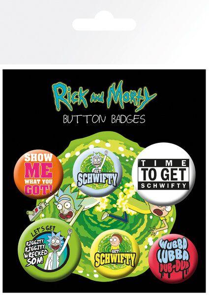 Image of   Rick And Morty Quotes Badgepakke multifarvet