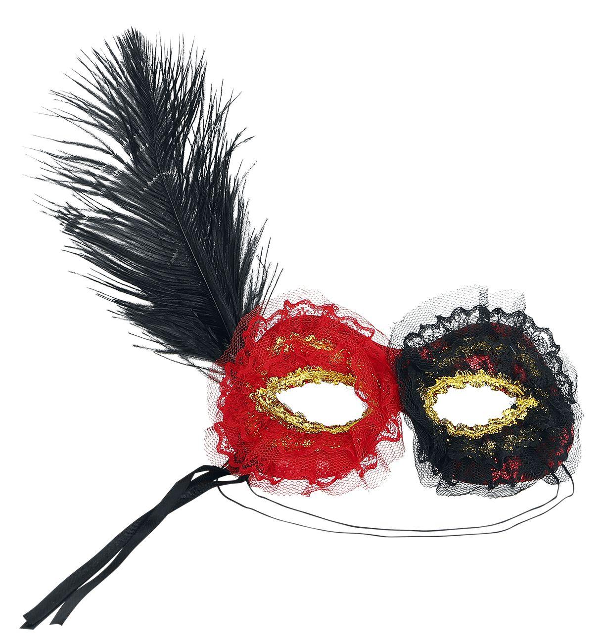 Basics - Maski i Kostiumy - Maska Dark Hours Mask Black And Red Maska standard - 366585