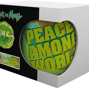 Rick & Morty Peace Mug blanc