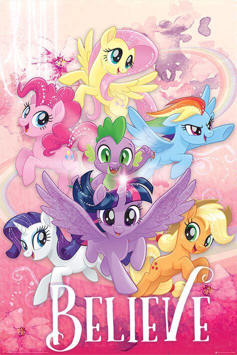 My Little Pony Believe Poster Mehrfarbig