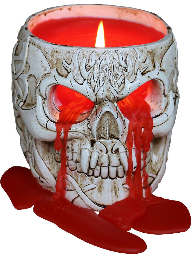 Image of   Spiral Goth Skull Stearinlys sort